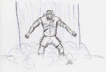Inktober 2016: 02 Warrior by redbeardcreator