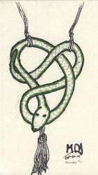 Inktober2017-10-snake Pendant by redbeardcreator