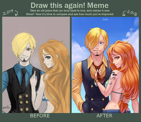 Meme before and after by Zella