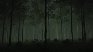 Eerie light-forest