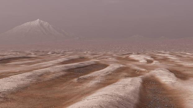 Dry with lifeless Mountain peak