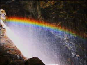 Rainbow in mist
