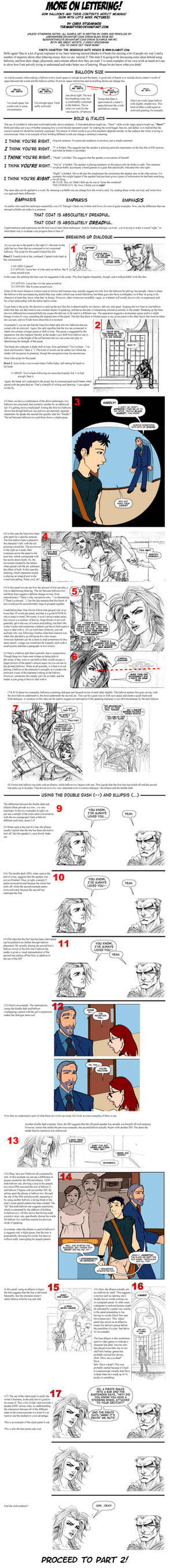Comics Lettering Theory Part 1