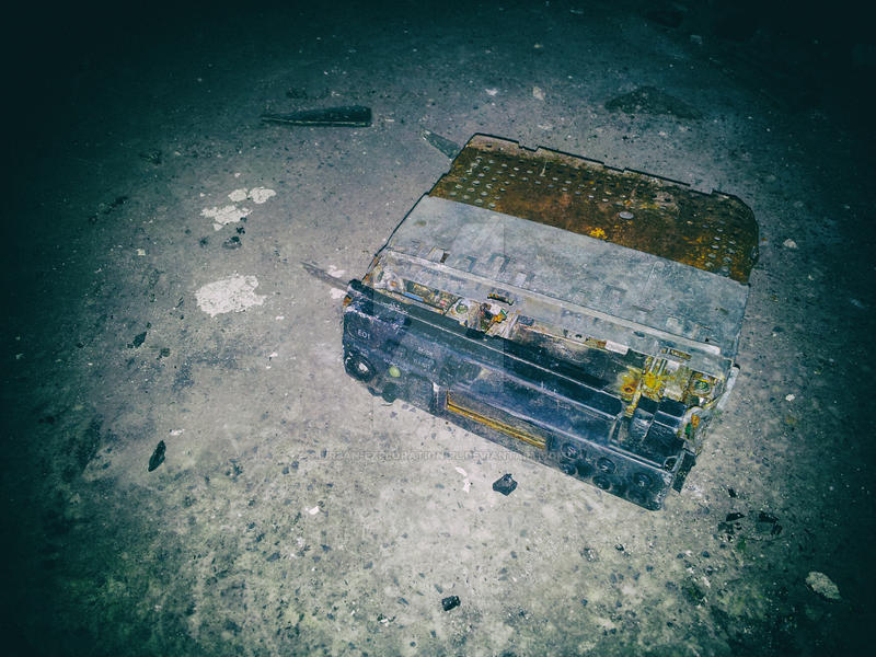 Old car radio just chillin' by urban-exploration-pl
