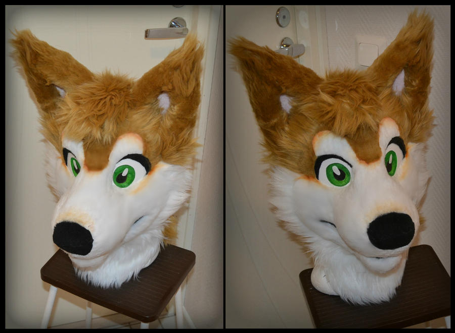 Fuffy comission fursuit head by RaviTheBlueTiger