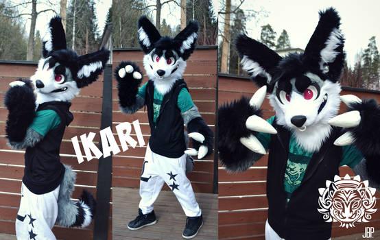 Ikari the monster fennec fursuit