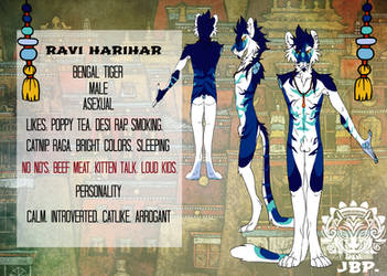 New reference - Ravi the tiger by RaviTheBlueTiger