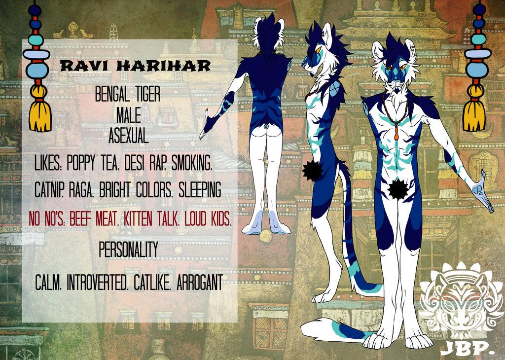 New reference - Ravi the tiger (censored) by RaviTheBlueTiger