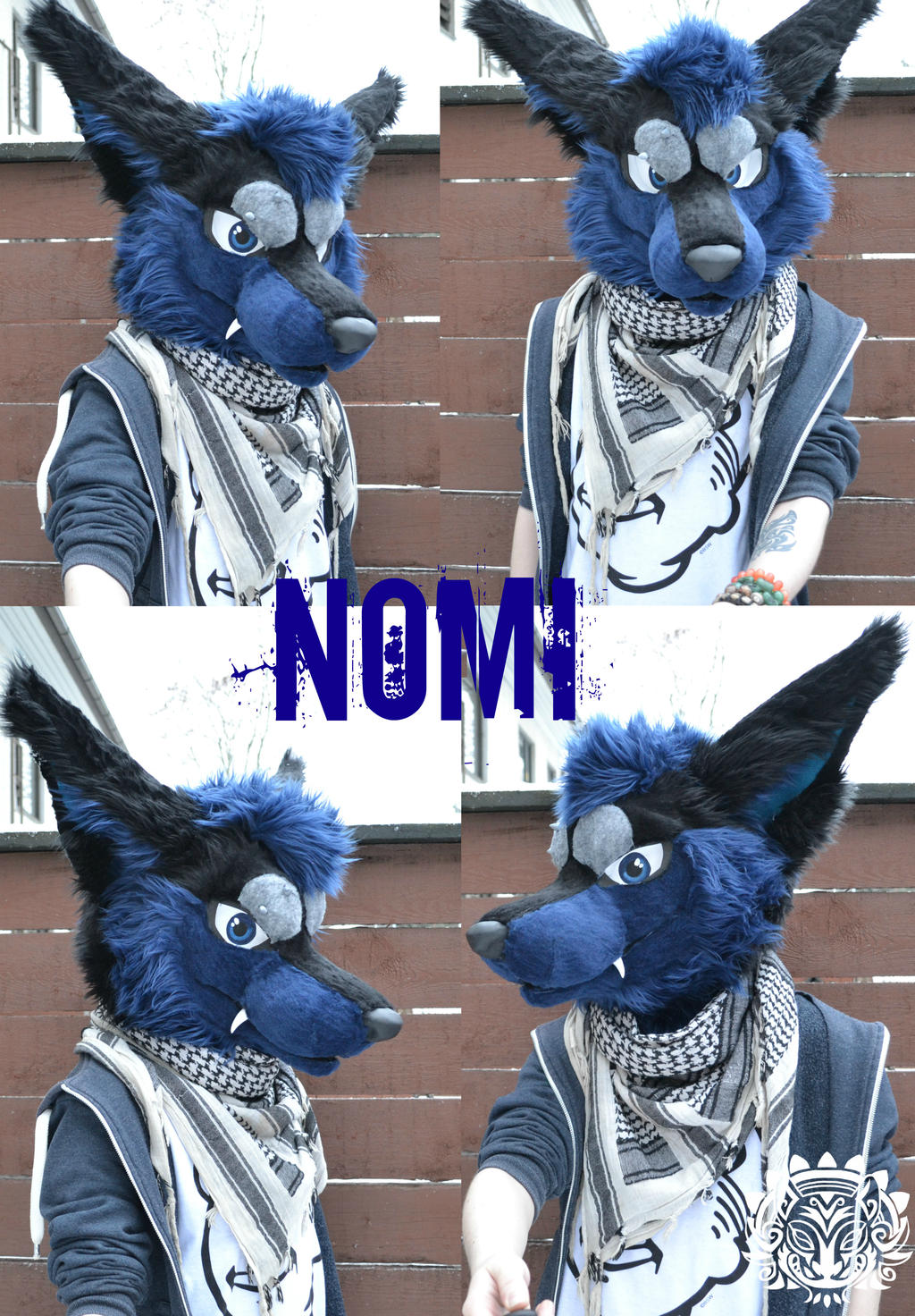 Commission fursuit head - Nomi by RaviTheBlueTiger