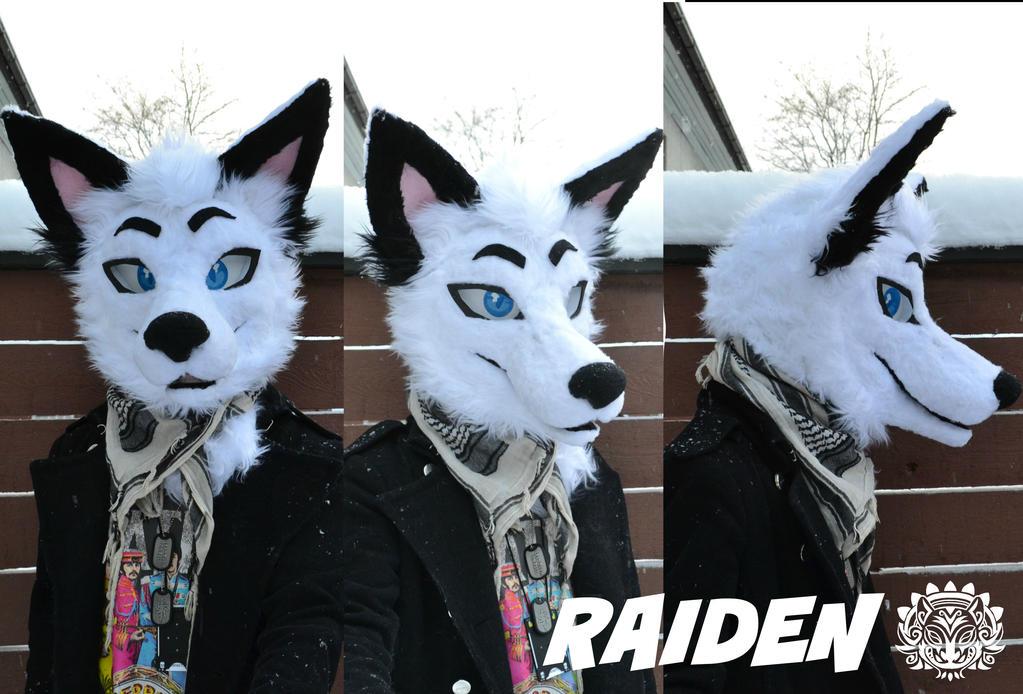 Commission head - Raiden the fox by RaviTheBlueTiger
