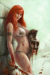 Red Sonja by Yneddt