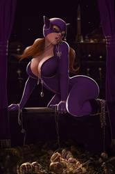 Catwoman robbing Arabian treasures (SFW) by Yneddt