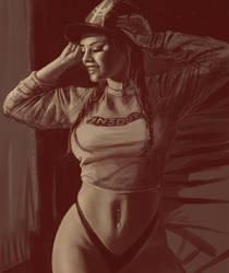 Amber with cap by Yneddt