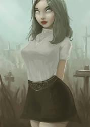 Zombie Girl by Yneddt