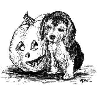 Halloween Beagle by xdragonladyx