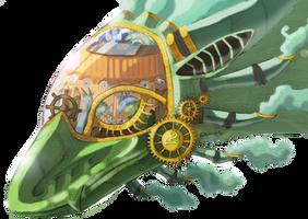Steampunk Windsinger by The-fox-of-wonders