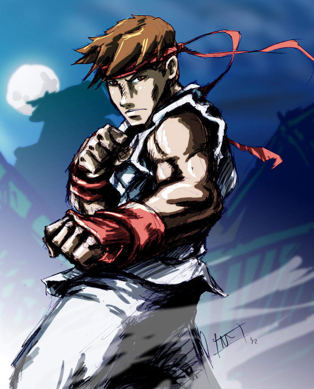FanArt: Ryu - Street Fighter II by wanderinghobo