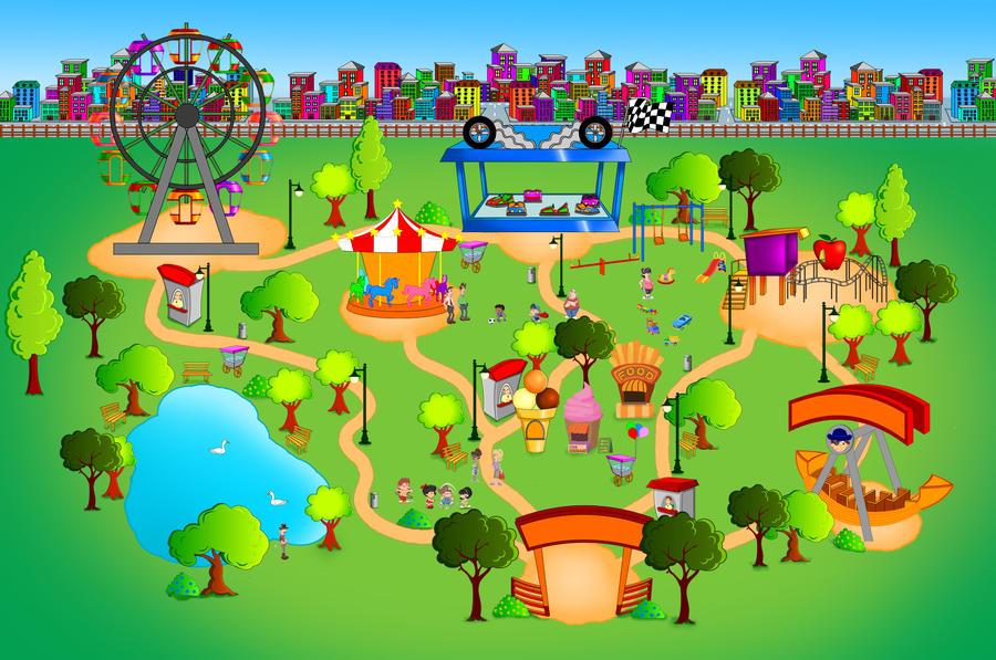 amusement park by kalakaan on DeviantArt