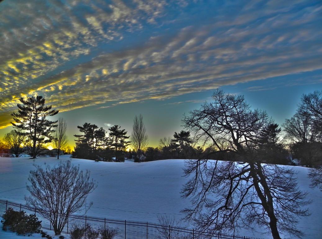 Winter Sunset by chammy3760