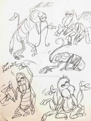 Bug character doodles