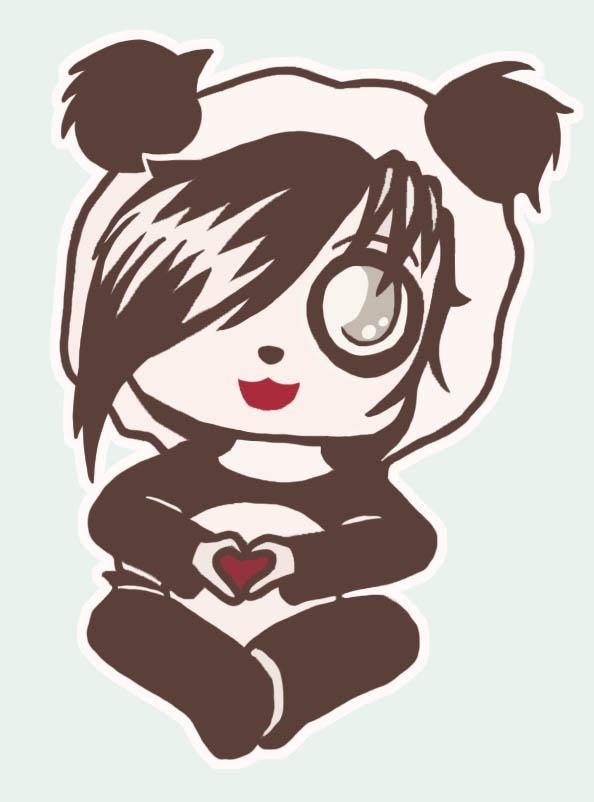 panda emo girl by - photo #8