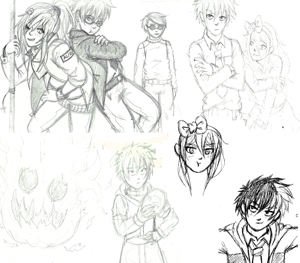 mini sketch dump by manga-kachazchan