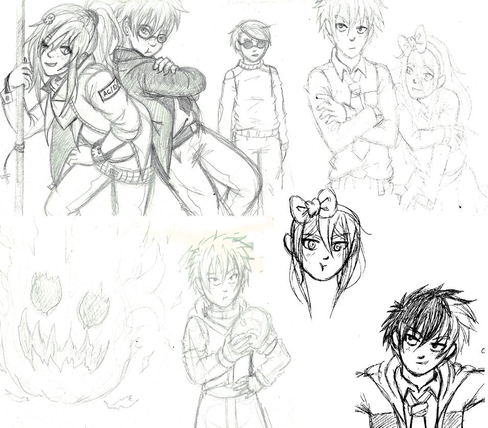 mini sketch dump by manga-kachazchan