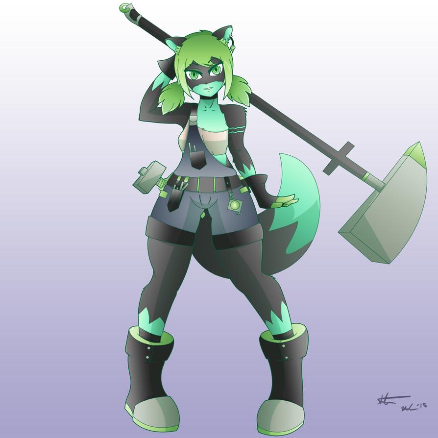 Blacksmith Gwendolyn by crimson-exe