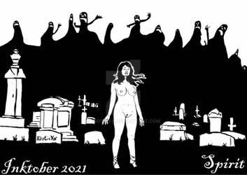 INKTOBER 2021 DAY 6 SPIRIT by ErotixXx