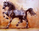 saladin's horse by bassemhany