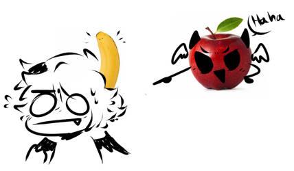 If Apollyon's an apple is Azazer a banana? by Nick-likes-toast