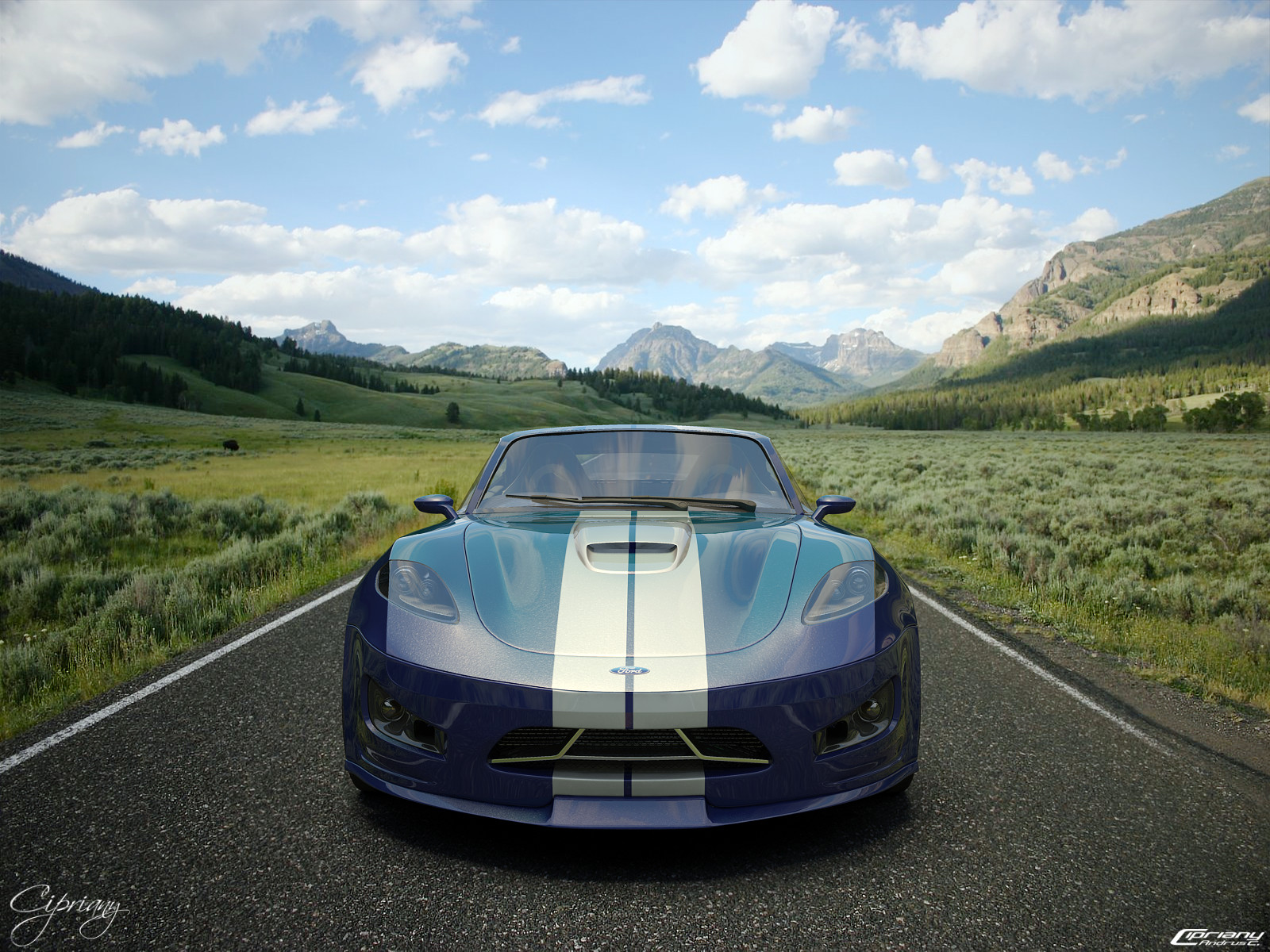 Ford Cobra concept 3 by cipriany