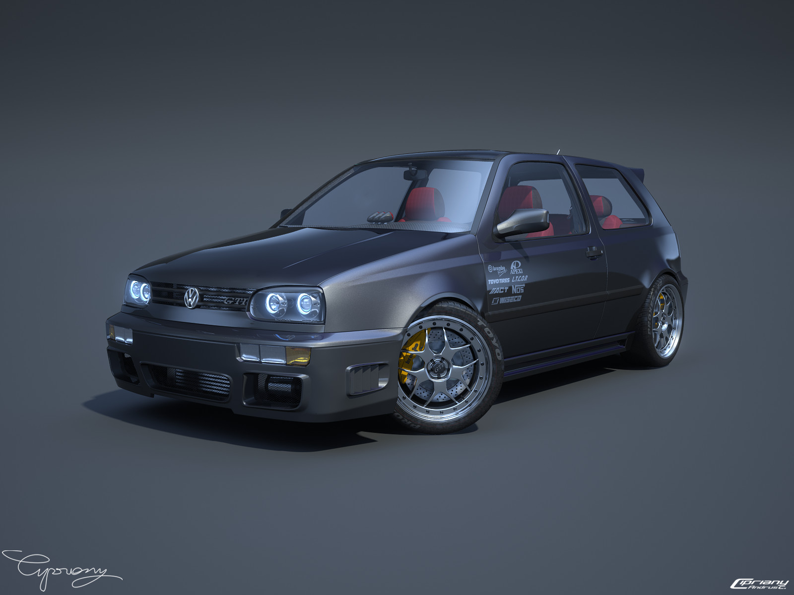 vw golf 3 gti 16 by cipriany on deviantart. Black Bedroom Furniture Sets. Home Design Ideas