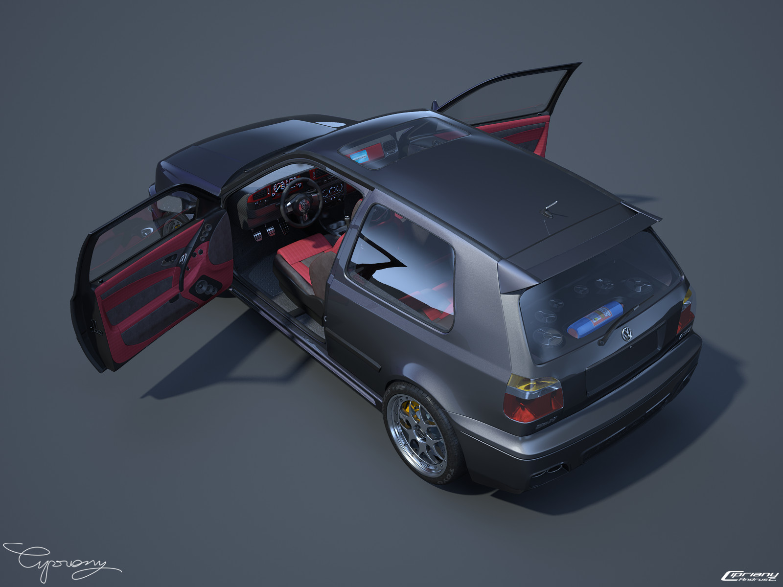 vw golf 3 gti 20 by cipriany on deviantart. Black Bedroom Furniture Sets. Home Design Ideas