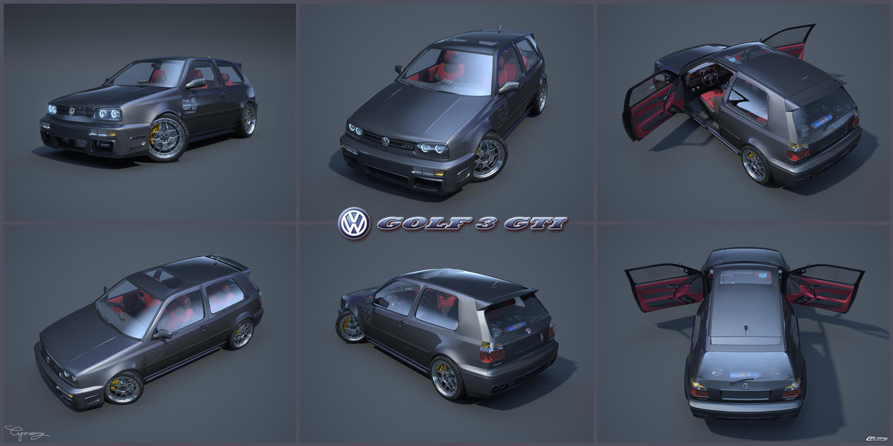 vw golf 3 gti 22 by cipriany on deviantart. Black Bedroom Furniture Sets. Home Design Ideas