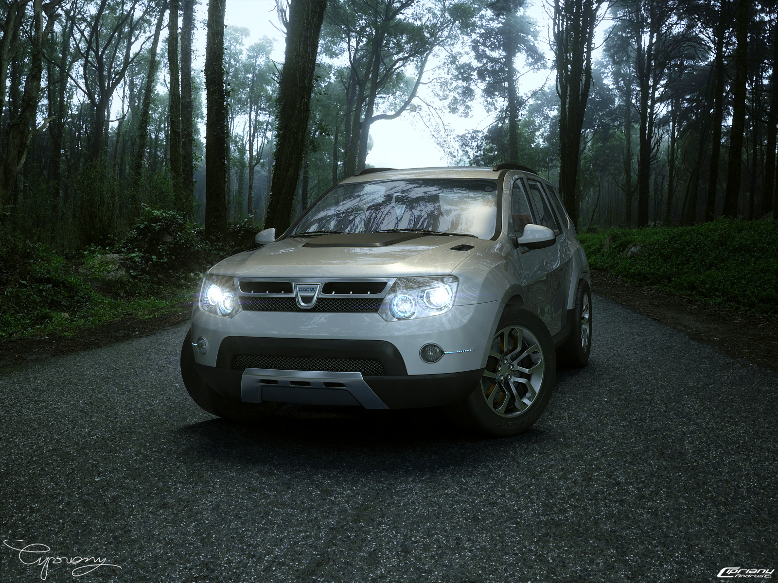 dacia duster tuning 4 lights by cipriany on deviantart. Black Bedroom Furniture Sets. Home Design Ideas