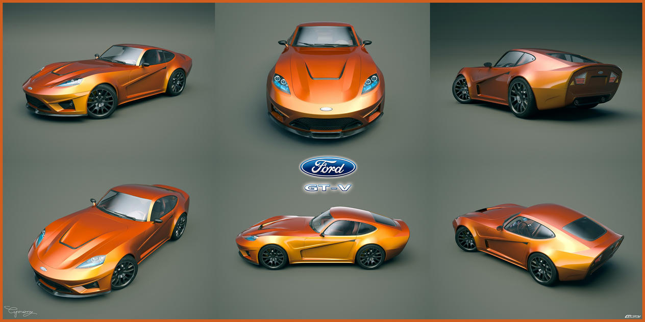 Ford GT-V concept V2 8 by cipriany