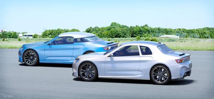 Renault 8 Gordini - concept V1 and V2 - 3
