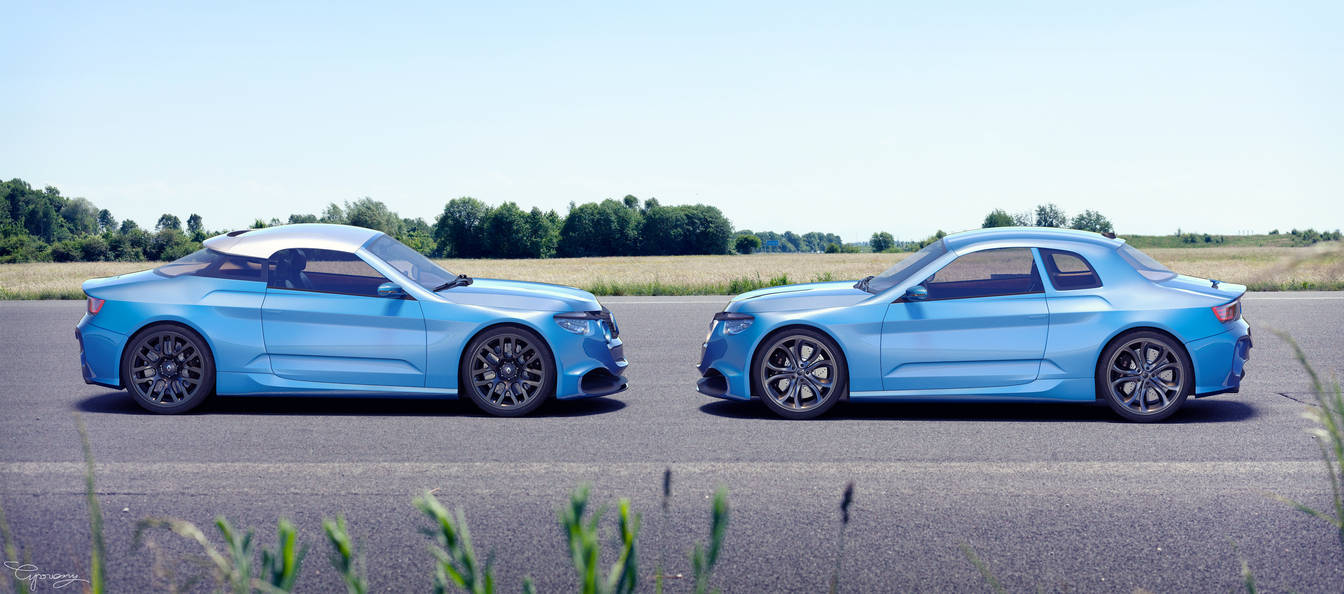 Renault 8 Gordini - concept V1 and V2 - 4 by cipriany