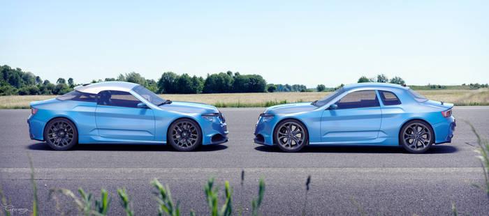 Renault 8 Gordini - concept V1 and V2 - 4