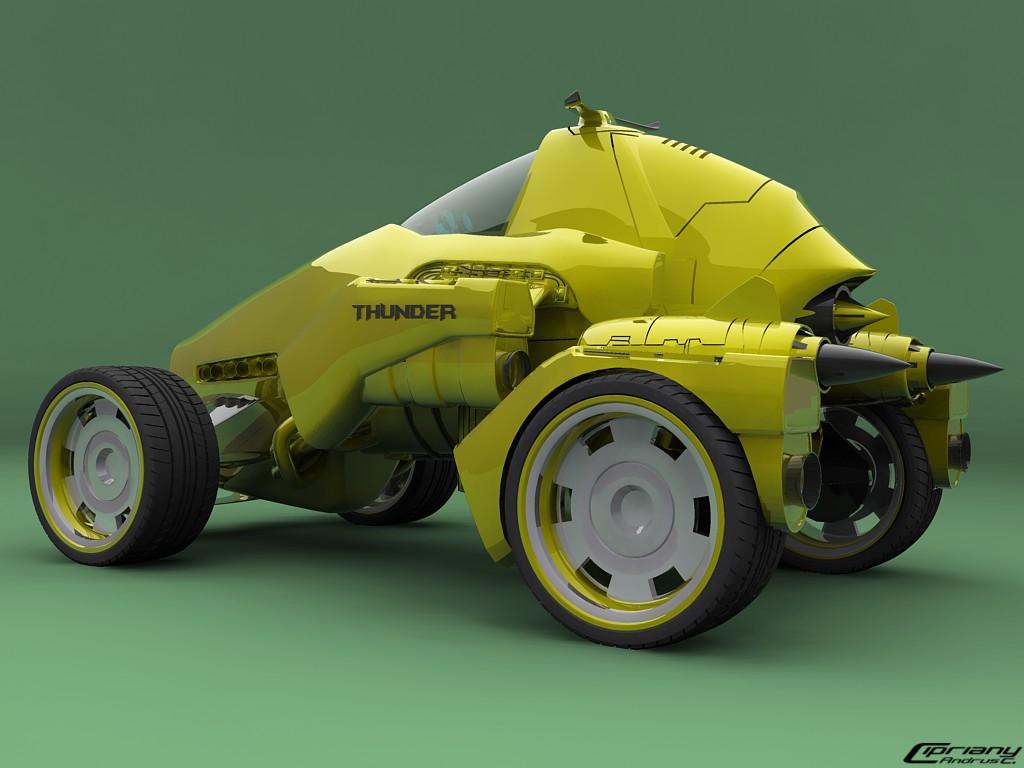 Futuristic car 2 by cipriany
