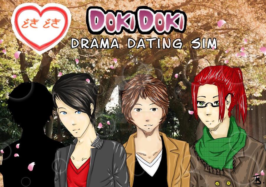DokiDoki Drama Dating Sim Promotional Poster by SleepyWriter