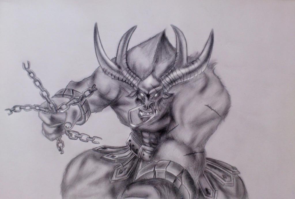 Alistar~ League of Legends (Drawing) by Sedilaraa