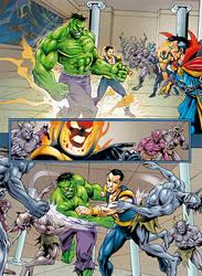 Defenders page by johncharlesart