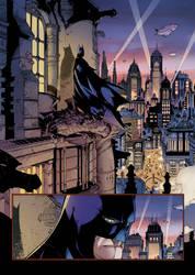 Batman Sample Coloring by me... by johncharlesart