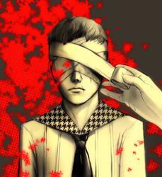Bandaged Eyes by queenvera