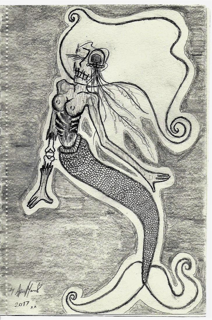 Zombie Mermaid by lost-sole