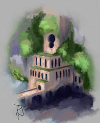 City Entrance, Fantasy Digital Painting