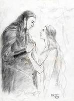 Amroth and Nimrodel by meneldil-elda
