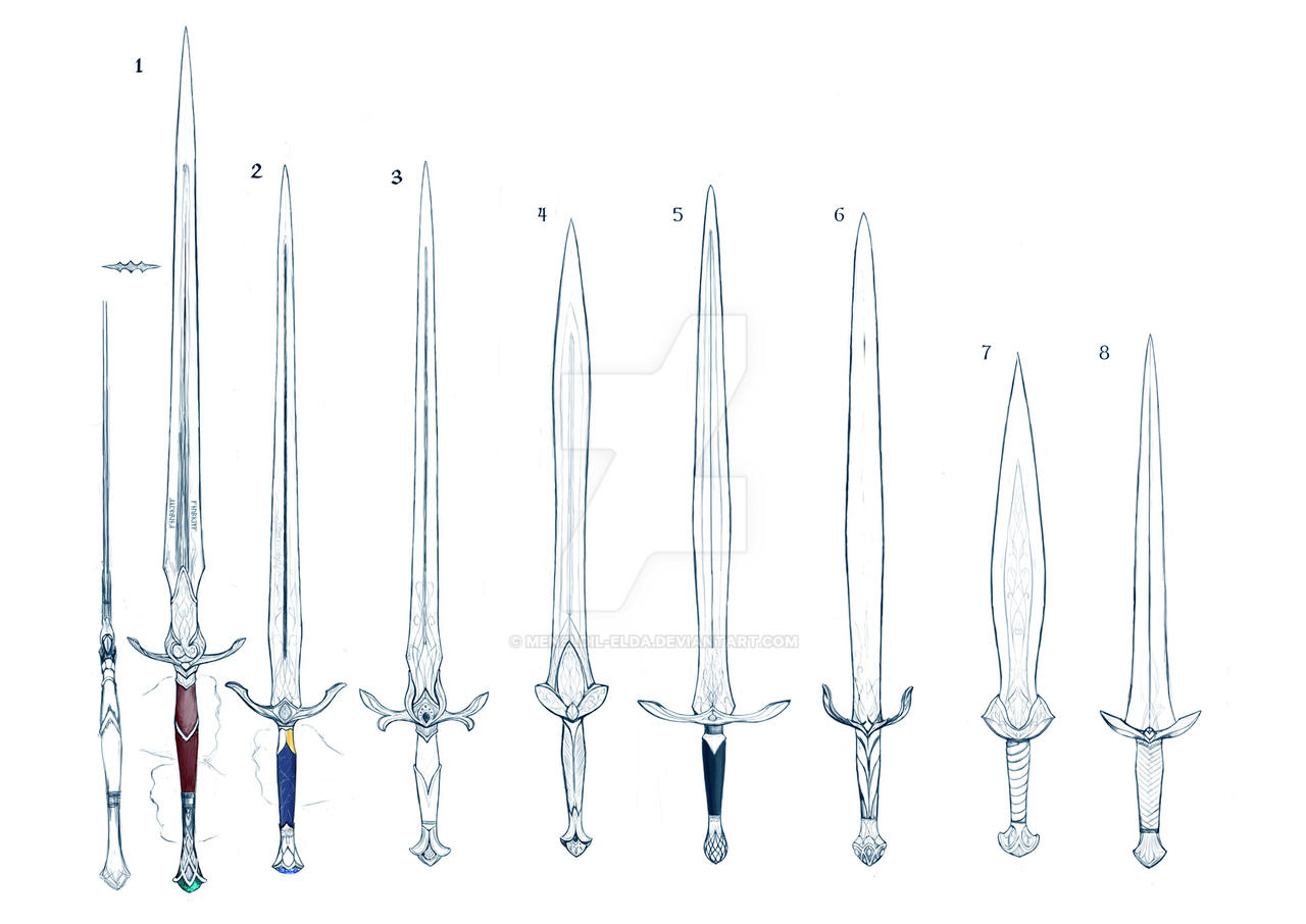 Elven swords by meneldil-elda